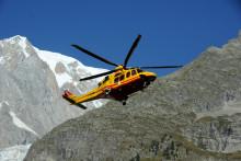 Un hélicoptère de secours près du Mont-Blanc (illustration)