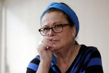 Christine Boutin lors de sa démission du Conseil départemental des Yvelines, à Rambouillet, le 21 octobre 2017.