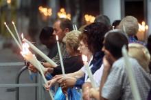 Des pèlerins à Lourdes le 15 août (image d'illustration)