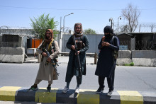 Des talibans à Kaboul le 16 août 2021