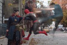 Doctor Strange et Peter Parker en pleine projection astrale