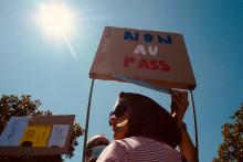 Des manifestants contre le passe sanitaire (illustration)