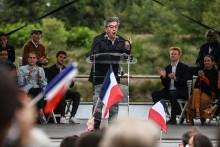 Jean-Luc Mélenchon lors de l'Université d'été de La France Insoumise le 29 août près de Valence.