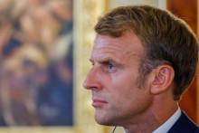 Emmanuel Macron le 29 août 2021 au Kurdistan irakien.