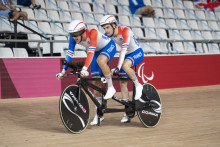 Alexandre Lloveras et de Corentin Ermenault aux Jeux paralympiques de Tokyo, le 25 août 2021.(Illustration)