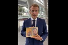 Emmanuel Macron et le portrait de McFly et Carlito le 2 septembre 2021