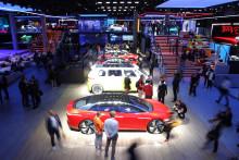 Une Volkswagen lors du Salon de l'automobile de 2019.