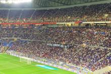 Les supporters lyonnais ont déployé une banderole pour Benzema le 7 septembre 2021 à Lyon