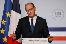 Le Premier ministre lors d'un point presse à l'Élysée à l'issue d'un séminaire gouvernemental, le 8 septembre 2021, à Paris.