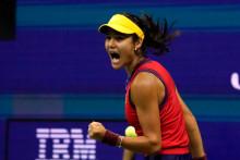 Emma Raducanu lors de la demi-finale du l'US Open.