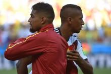 Kevin-Prince Boateng et Jérôme Boateng opposés lors d'une rencontre entre le Ghana et l'Allemagne