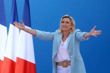 Marine Le Pen à Fréjus le 12 septembre lors de l'université d'été du RN.