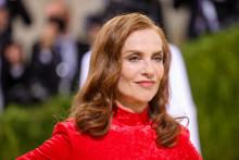 Isabelle Huppert lors du gala du Met, le 13 septembre 2021