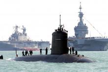 Le sous-marin Perle en 2015 (illustration)