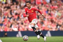Cristiano Ronaldo avec Manchester United à Old Trafford le 11 septembre 2021