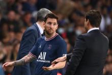 Lionel Messi lors du match PSG-OL le 19 septembre 2021.