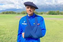 Florent Merlet, secouriste au PGHM de l'Isère, rescapé de l'accident d'hélicoptère le 12 septembre dernier