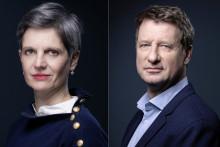 Sandrine Rousseau (gauche), et Yannick Jadot (droite), les candidats du second tour de la primaire écologiste de 2021.