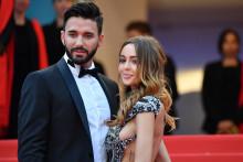 Nabilla Benattia et Thomas Vergara sur les marches du festival de Cannes, le 15 mai 2018. (Photo d'illustration)