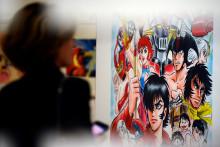 Une exposition dédiée aux mangas à Milan (Italie) en mai 2013
