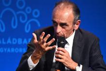 Éric Zemmour lors d'un sommet de la droite identitaire sur la démographie à Budapest, le 24 septembre 2021.