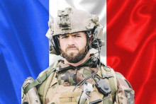 Lle Caporal-chef Maxime Blasco du 7e bataillon de chasseurs alpin, tué au combat au Mali le 24 septembre 2021, lors d'une opération de la force anti-jihadiste française Barkhane.