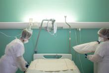 Une chambre d'hôpital (Illustration)