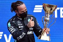 Lewis Hamilton après sa victoire au Grand Prix de Russie