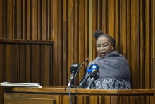 Nomia Ndlovu, au palais de justice de Johannesburg, le 27 septembre 2021