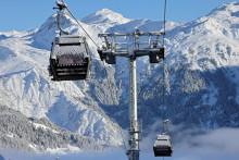 La station de Courchevel, sans skieur en décembre 2020.