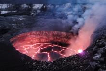Le lac de lave du volcan Kilauea à Hawaï, le 1er février 2014