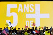 Des sympathisants LaREM réunis à Avignon pour l'université d'automne du parti le 3 octobre 2021.
