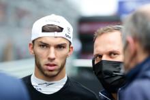 Pierre Gasly lsur la grille du GP de Russie le 26 septembre 2021