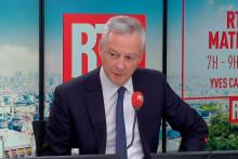 Bruno le Maire est l'invité d'Alba Ventura sur RTL, le 6 octobre 2021