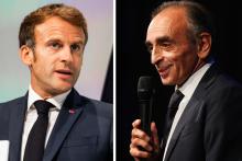 Emmanuel Macron et Éric Zemmour