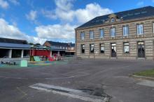 La cour d'école de la commune de Goderville, où sévissaient les dames de cantine.