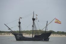 Une réplique de Nao Victoria, l'un des bateaux de l'expédition de Magellan
