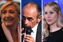 Marine Le Pen, Éric Zemmour et Marion Maréchal
