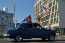 L'ambassade américaine à la Havane, à Cuba, ici le 28 mars 2021