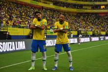 Lucas Paqueta et Neymar à Manaus le 14 octobre 2021