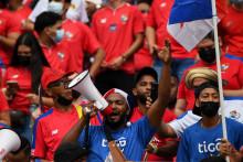Des supporters panaméens, le 10 octobre 2021