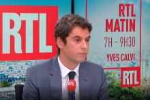 Gabriel Attal était l'invité de RTL mardi 19 octobre.