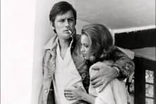 """Romy Schneider et Alain Delon sur le tournage de """"La Piscine"""" (1968)"""
