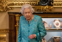 La Reine Elizabeth II lors d'une réception, le 19 octobre 2021.