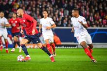Le joueur de Lille Burak Yilmaz lors du match entre le LOSC et le FC Séville mercredi 20 octobre.