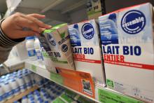 Des briques de lait bio (illustration)