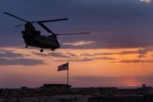 Un hélicoptère de l'armée américaine en Syrie