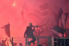 Les supporters bordelais lors d'un match contre Lorient en 2017.