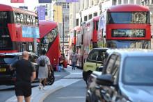 Illustration d'un embouteillage à Londres