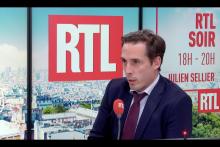 Le ministre des Transports, Jean-Baptiste Djebarri, au micro de RTL